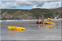 SM8422 : Lifeguards at Newgale Sands by Simon Mortimer