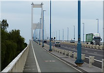 ST5491 : Cycleway and footpath on the Severn Road Bridge by Mat Fascione