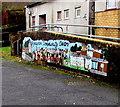 ST0796 : Mural outside Bryncynon Community Centre, Ynysboeth by Jaggery