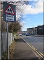 SO0002 : Warning sign School/Ysgol in Aberdare by Jaggery
