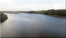 NT9953 : View upstream from the Royal Border (rail) Bridge by Stanley Howe