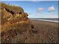 TA3624 : Field drain in the cliff by Hugh Venables