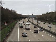 TQ2352 : M25 motorway near Reigate by Malc McDonald