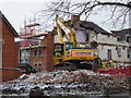 SO8754 : Worcestershire Royal Hospital - demolition and snow by Chris Allen