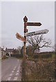 ST5432 : Direction Sign - Signpost southwest of Tootle Bridge by J Dowding