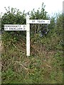 SX0579 : Old Direction Sign - Signpost by Milestone Society