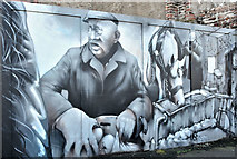 J3374 : Decorated hoarding, Gresham Street, Belfast (February 2019) by Albert Bridge