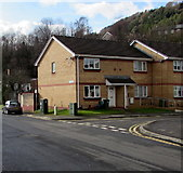 ST0894 : Junction of Station Road and David Dower Close, Abercynon by Jaggery