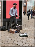 SJ8498 :  Travelling puppeteer Ettenoiram by Gerald England