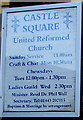 ST0889 : Information board on the wall of Castle Square URC, Treforest by Jaggery
