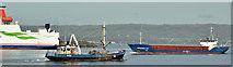 "J3778 : ""Dingenis Jan"" and ""Germanica Hav"", Belfast harbour (February 2019) by Albert Bridge"