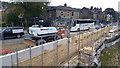 SE0126 : Construction of flood defence wall at Bridge End, Burnley Road, Mytholmroyd by Phil Champion