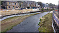 SE0125 : River Calder, Mytholmroyd, downstream of County Bridge by Phil Champion