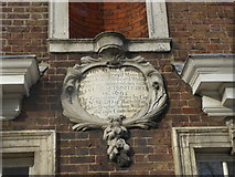 TQ3581 : Plaque on the wall at Trinity Green Almshouses by Marathon