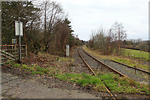 NS2052 : Hunterston railway line by Thomas Nugent