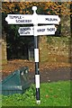 NY6228 : Old Direction Sign - Signpost by Milestone Society