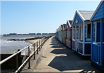 TM5176 : Beach huts and promenade at Southwold by Mat Fascione