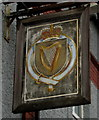 ST1396 : Harp Inn name sign, Gelligaer by Jaggery