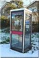 NZ2595 : Telephone box, Widdrington by Graham Robson
