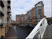 SP0586 : Apartment blocks along the Oozells Street Loop, Birmingham Canal, Birmingham by Rudi Winter