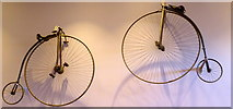 TR1457 : Penny farthing bicycles in Canterbury by pam fray