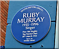 J3273 : Ruby Murray blue plaque, Belfast (February 2019) by Albert Bridge