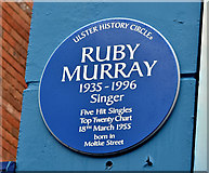 J3273 : Ruby Murray blue plaque, Belfast (February 2019) by Albert Bridge