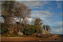 NH7358 : Red sand at Rosemarkie by Julian Paren