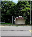 SS9386 : A4061 bus stop and shelter, Blackmill by Jaggery