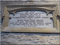 SP2160 : St James the Great, Snitterfield: tablet by Basher Eyre
