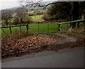 SO2219 : Five-bar field gate near Crickhowell by Jaggery