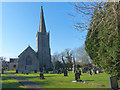 ST3483 : St Mary the Virgin Church, Nash, Newport by Robin Drayton