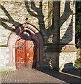 SJ8594 : Holy Innocents Doorway by Gerald England