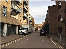 TQ3480 : Sovereign Close, Wapping by Robin Stott