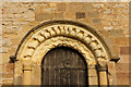 SE3856 : Romanesque door head by Richard Croft