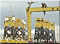 J3575 : Wind turbine parts, Harland & Wolff, Belfast  - February 2019(1) by Albert Bridge