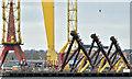 J3575 : Wind turbine parts, Harland & Wolff, Belfast  -  February 2019(2) by Albert Bridge