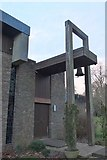 TL4359 : Entrance to the chapel, Churchill College Cambridge by Jim Barton