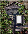 ST1396 : Overgrown Horeb information board, Castle Hill, Gelligaer by Jaggery