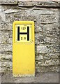 TF0041 : Hydrant sign by Bob Harvey