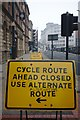 SE2933 : Cycle route closed by Bob Harvey