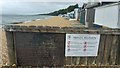 SU4801 : Private Beach signs at Calshot by Phil Champion