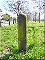 TQ2875 : Old Boundary Marker by Milestone Society