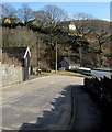 SO0900 : Descent towards a bend in High Street, Bedlinog by Jaggery