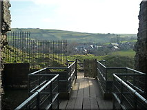 SO2980 : View from Clun Castle (Keep) by Fabian Musto