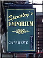 NZ4920 : Sign for Spensley's Emporium, Middlesbrough by JThomas
