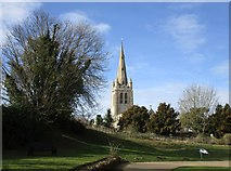 SK8608 : The Castle grounds and All Saints' church, Oakham by Jonathan Thacker