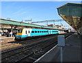 ST3088 : Carmarthen train at platform 2, Newport station by Jaggery