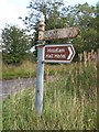 NZ1819 : Old Direction Sign - Signpost by Milestone Society