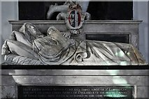 TM3973 : Bramfield, St. Andrew's Church: Arthur and Elizabeth Coke memorial by Nicholas Stone 2 by Michael Garlick
